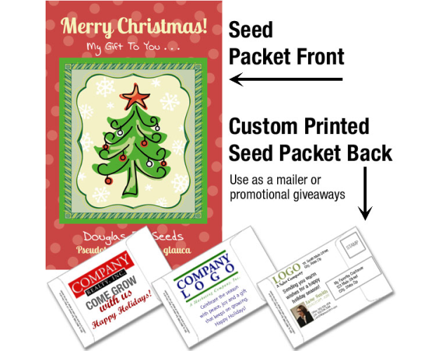 Christmas Tree Seeds - Douglas Fir/ Mailable Seed Packet - Custom Printed Back