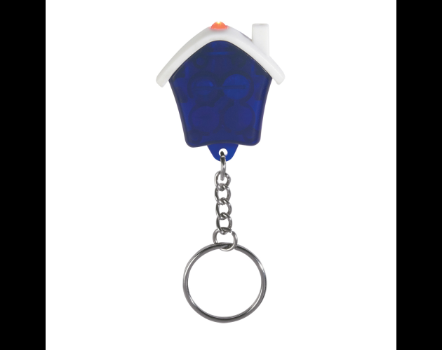 Blue Light Up Keychain House
