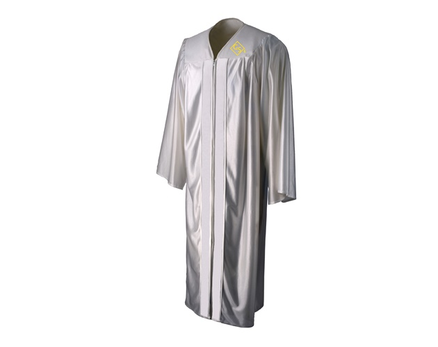Shiny Fabric - Graduation Gown - With Embroidery - Adult/Teen Sizes