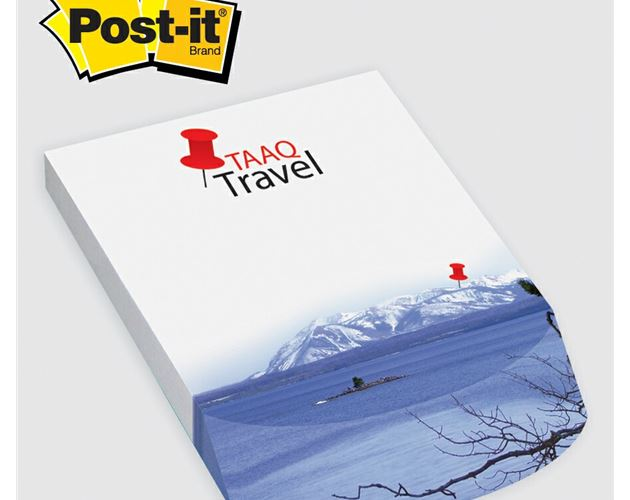 "Post-it® Custom Printed Angle Note Pad - (4""x5 3/4"")"
