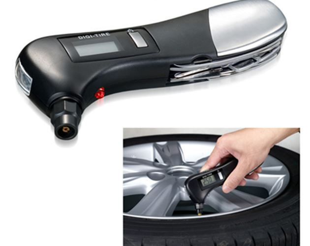 Tire Pressure Gauge With Tools