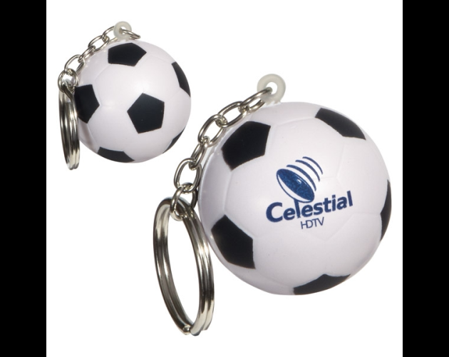 Soccer Ball Stress Reliever Keychain