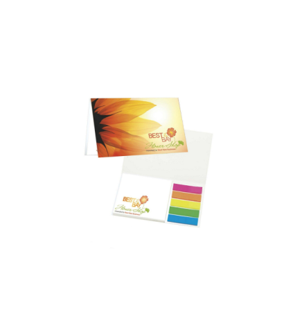 BIC Mylar Flag and Notepad Booklet