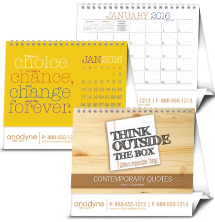 Contemporary Quotes Large Desk Calendars