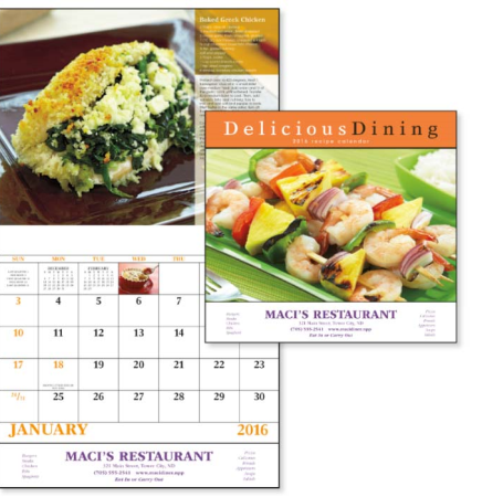 GoodValue Delicious Dining Stapled 13 Month Appointment Calendar