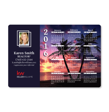Tropical Calendar Magnet