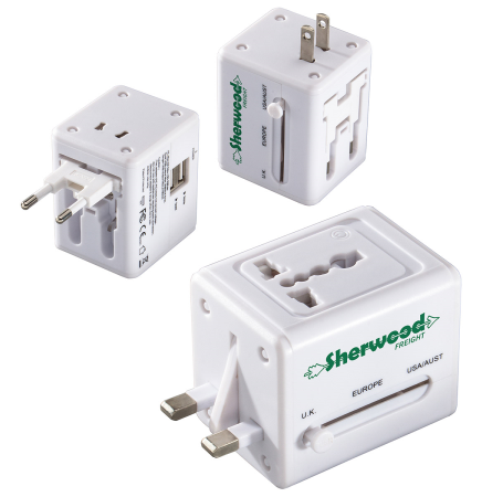 Quick Traveler 2 USB Port Universal Travel Adapter