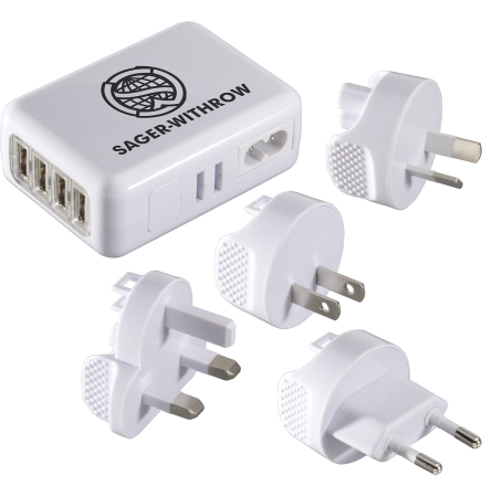 4 USB Port Universal World Travel Adapter