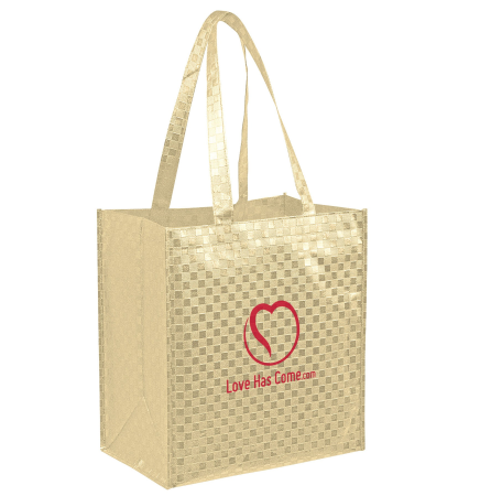 Metallic Grocery Bag with Insert