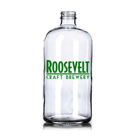 32 OZ Clear Boston Round Growler