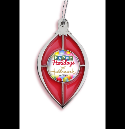 Red Stained Glass Effect Ornament