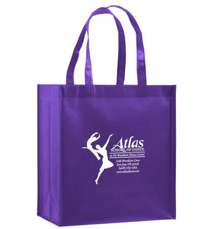 "Gloss Grocery Bag w/Insert 12"" x 8"" x 13"""