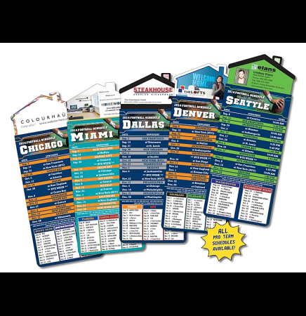 Football Schedules Magna-Card House Shaped Magnet  (3.5x9)