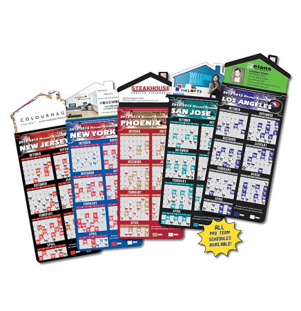 Hockey Schedules Magna-Card House Shape Magnet  (3.5x9)
