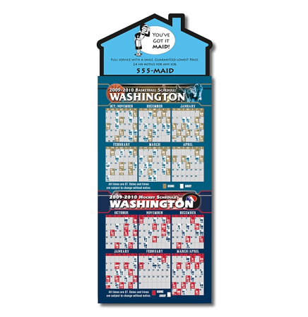 Basketball/Hockey Schedules  Magna-Card House Shape Magnet  (3.5x9)