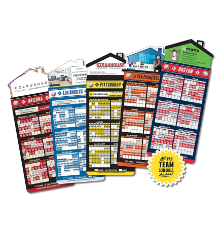Baseball Schedules Magna-Card House Shape Magnet  (3.5x9)