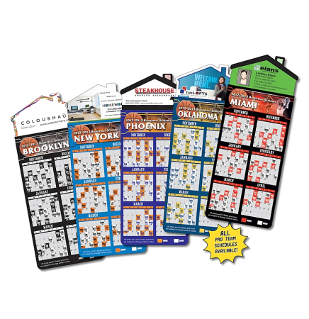 Basketball Schedules Magna-Card House Shape Magnet  (3.5x9)