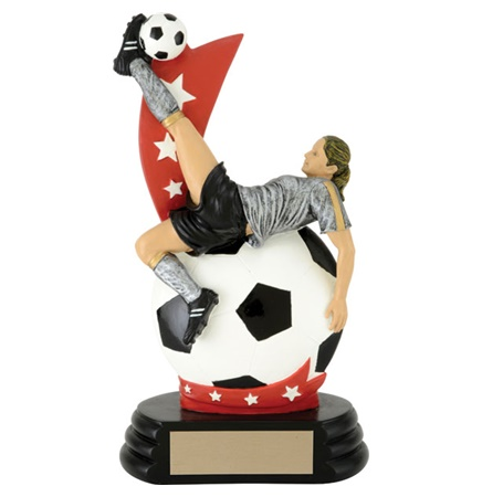 7 Female All Star Player On Ball Trophy