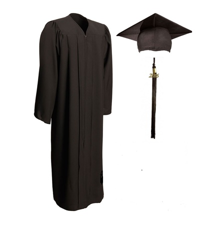 Recycled Fabric - Graduation Cap, Gown, & 1-Color Tassel - Adult/Teen Sizes