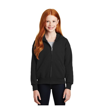 Hanes® Youth EcoSmart® Full Zip Hooded Sweatshirt