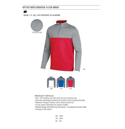 Under Armour Boys Scratch 1/4 Zip Golf Coverup