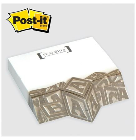 "Post-it® Custom Printed Angle Note Pad - (4""x3 3/4"")"