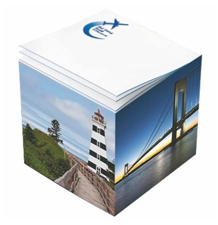 "Post-it® Custom Printed Noted Full Cube (3 3/8""x3 3/8""x3 3/8"")"