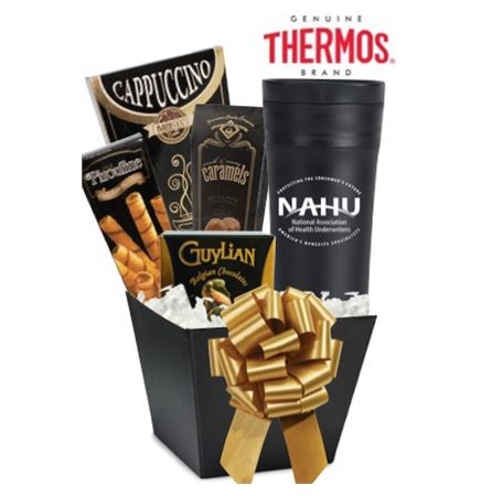 THERMOS Tumbler & Snack Basket (Black)