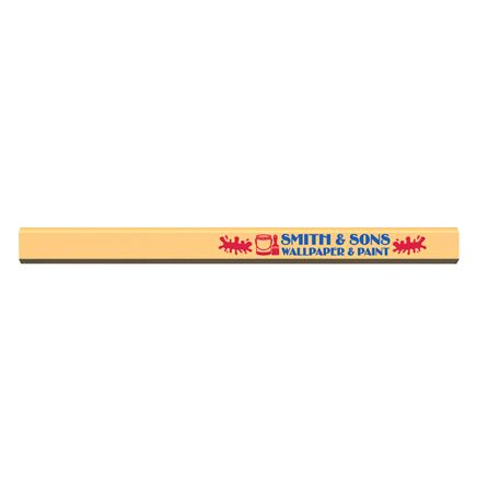Made In The USA Carpenter 700™ Flat Medium Lead Solid Pencil (Cream Beige)