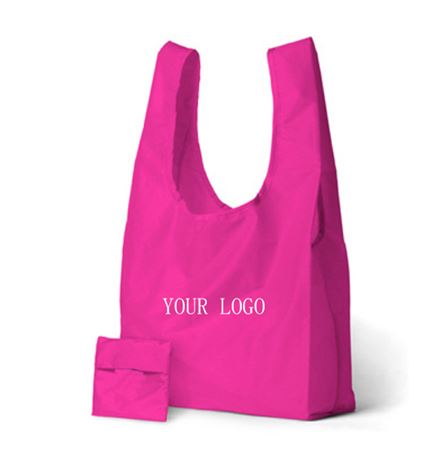 190T Folding Shopping Bag With Pouch