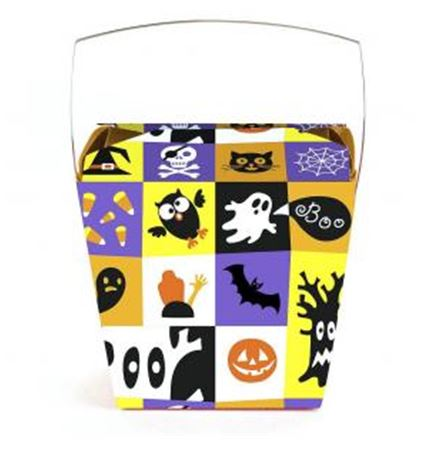 Halloween Square Themed Pint Sized Chinese Box