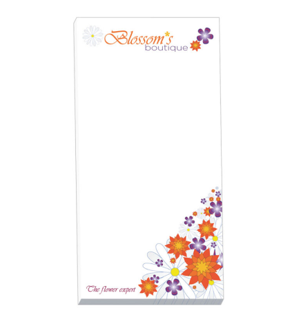 "3"" x 6"" - 25 Sheet Notepad Custom Pad"