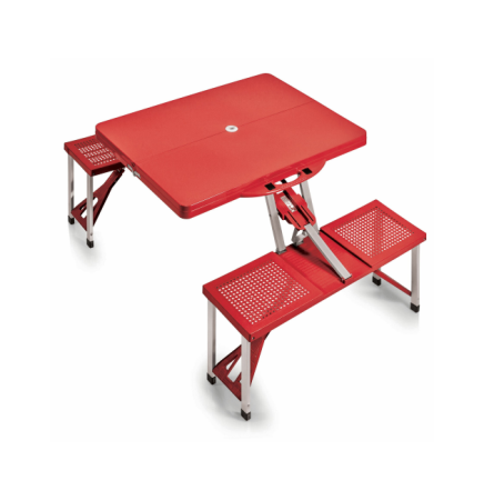 Portable Folding Picnic Table w/ Four Integrated Seats